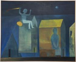 Casas de meditación, 2017, oil on canvas, 81 x 100 cm
