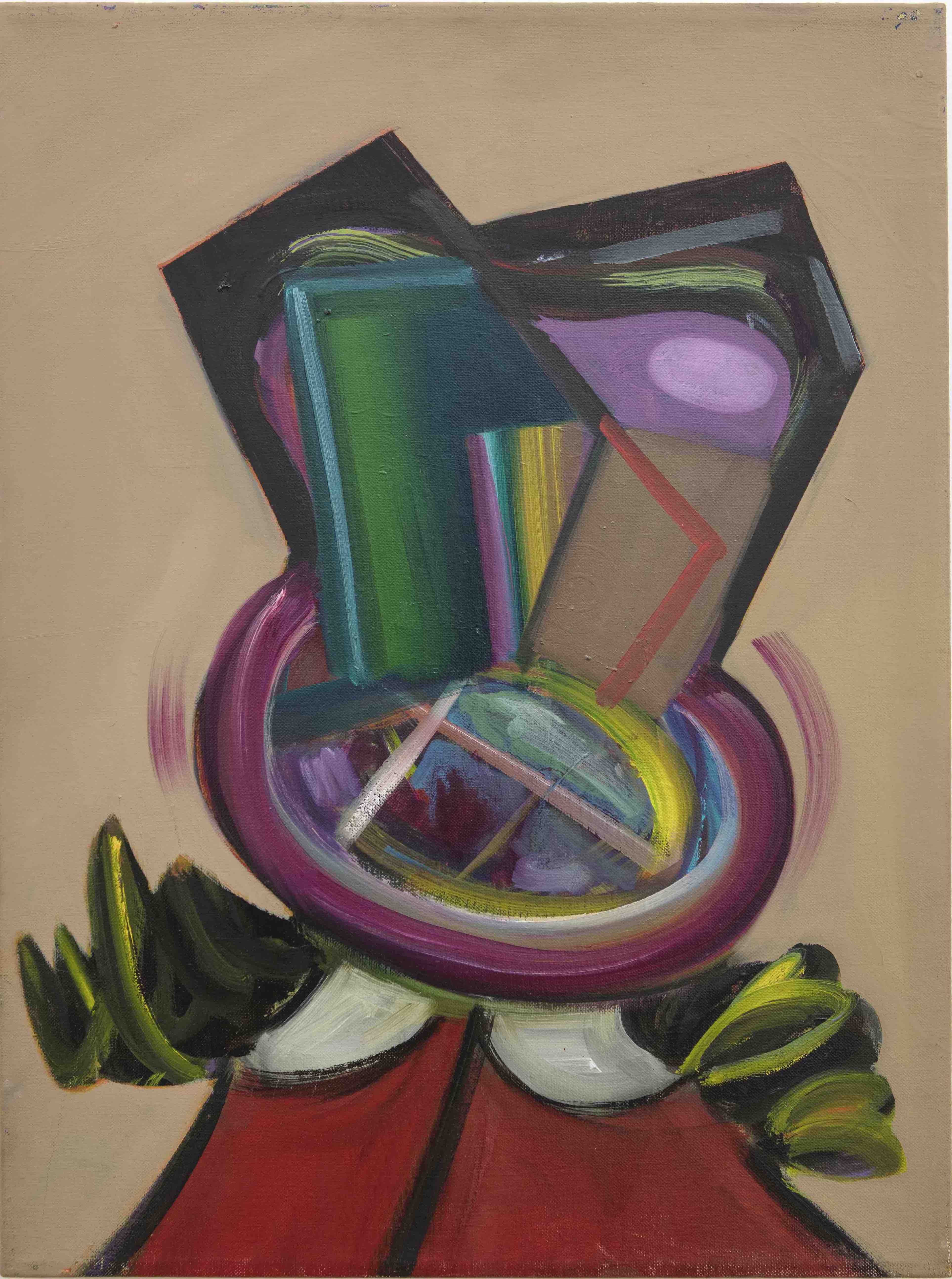 Little Lulu del Agitated Cubism, 2013, Oil on linen, 60 x 45 cm