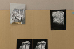 Meltdowns, 2021, Inkjet print on paper, cartboard, detail