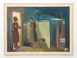 Señora pobreza, 2019, oil on canvas, 97 x 130 cm