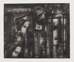 22_Habitat_18x12in_2013_ink, charcoal, collage on paper