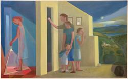 Tormenta cercana, oil on canvas, 110 x 180cm