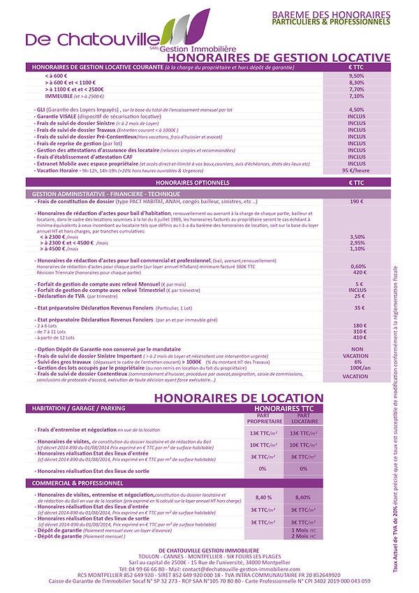 BAREME DES HONORAIRES GESTION LOCATIVE.j