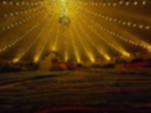 Ivy & light canopy in the 7m bell tent.j