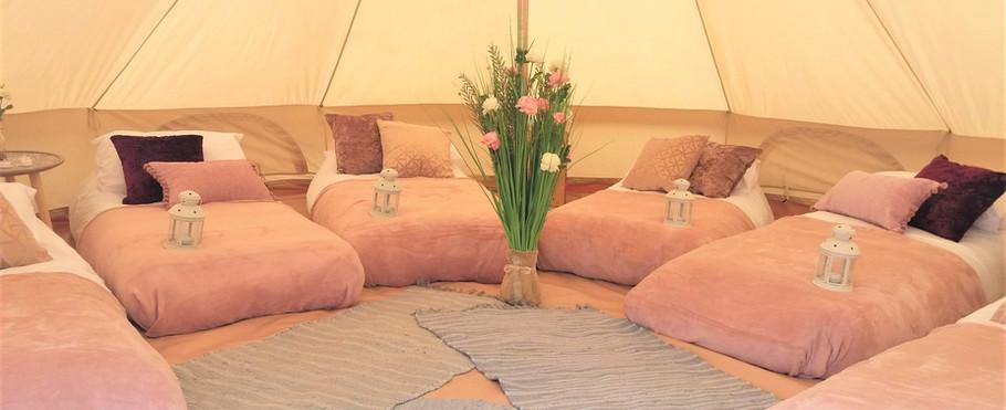 Rose Gold sleepover tent