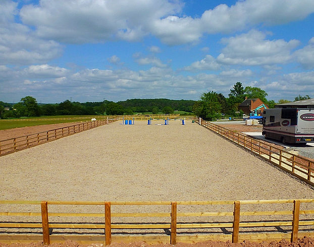 Riding arena and surfaces