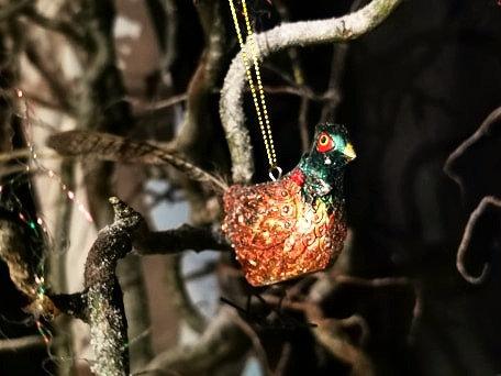 Golden Pheasant Tree Decoration