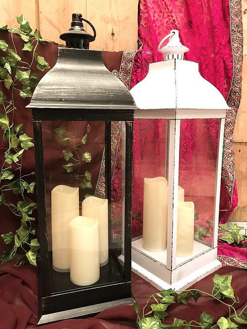 Large Antique Style LED Lantern