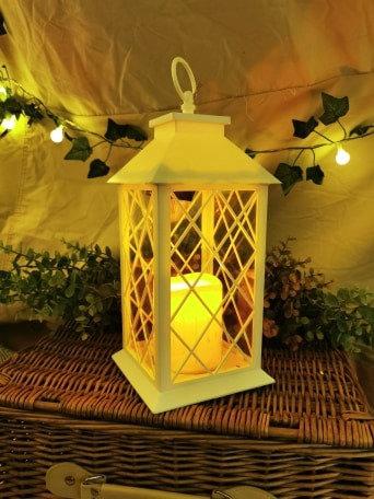 Criss Cross White Lantern