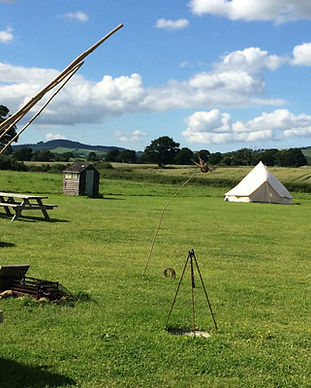 Old-Bidlake-Bell-Tent-Camping-Tent-blue-