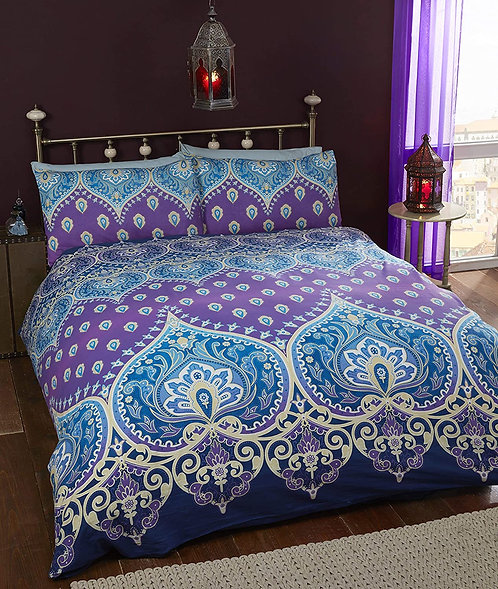 Festival style mandala bed linen ~ Sapphire