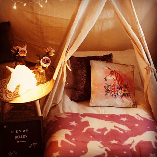 Unicorn sleepover mini teepee