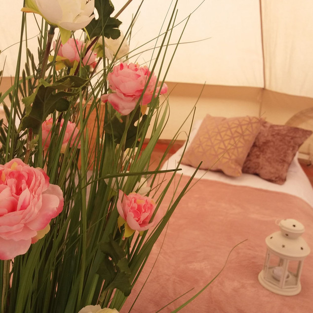 Rose Gold themed tent