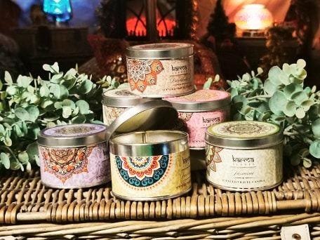 Mandala Tin Candles