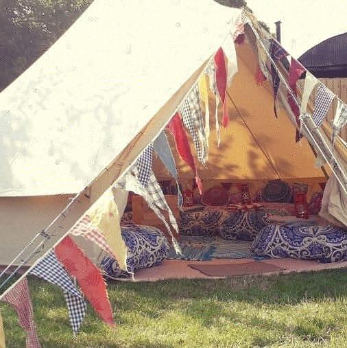 festival theme sleepover tent