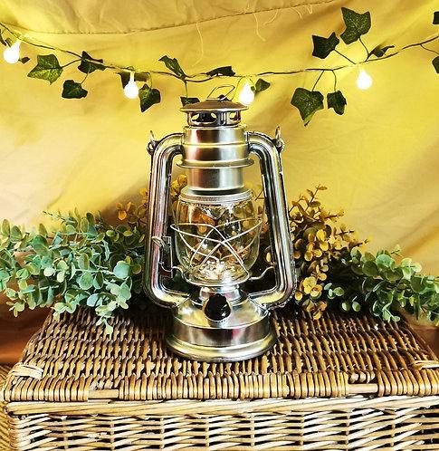 Vintage Hurricane Style LED Lantern