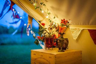 Boho decor in the 7m bell tent.jpg