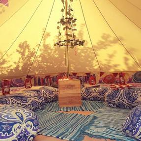 Festival themed tent for a birthday boy