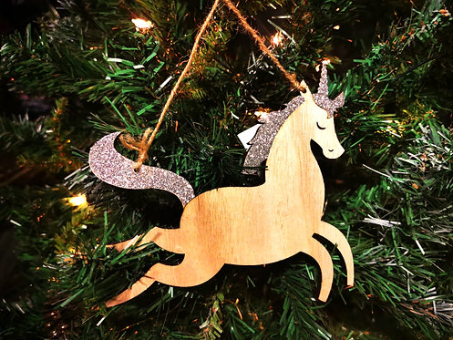 Sparkly Wooden Unicorns!