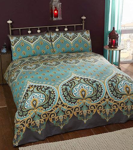 Festival style mandala bed linen ~ Emerald