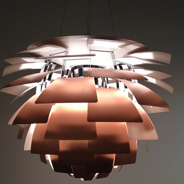 Artichoke Light Fixture, by Danish designer Poul Henningson, is admired because of its ability to diffuse light through a space due to its unique shape.