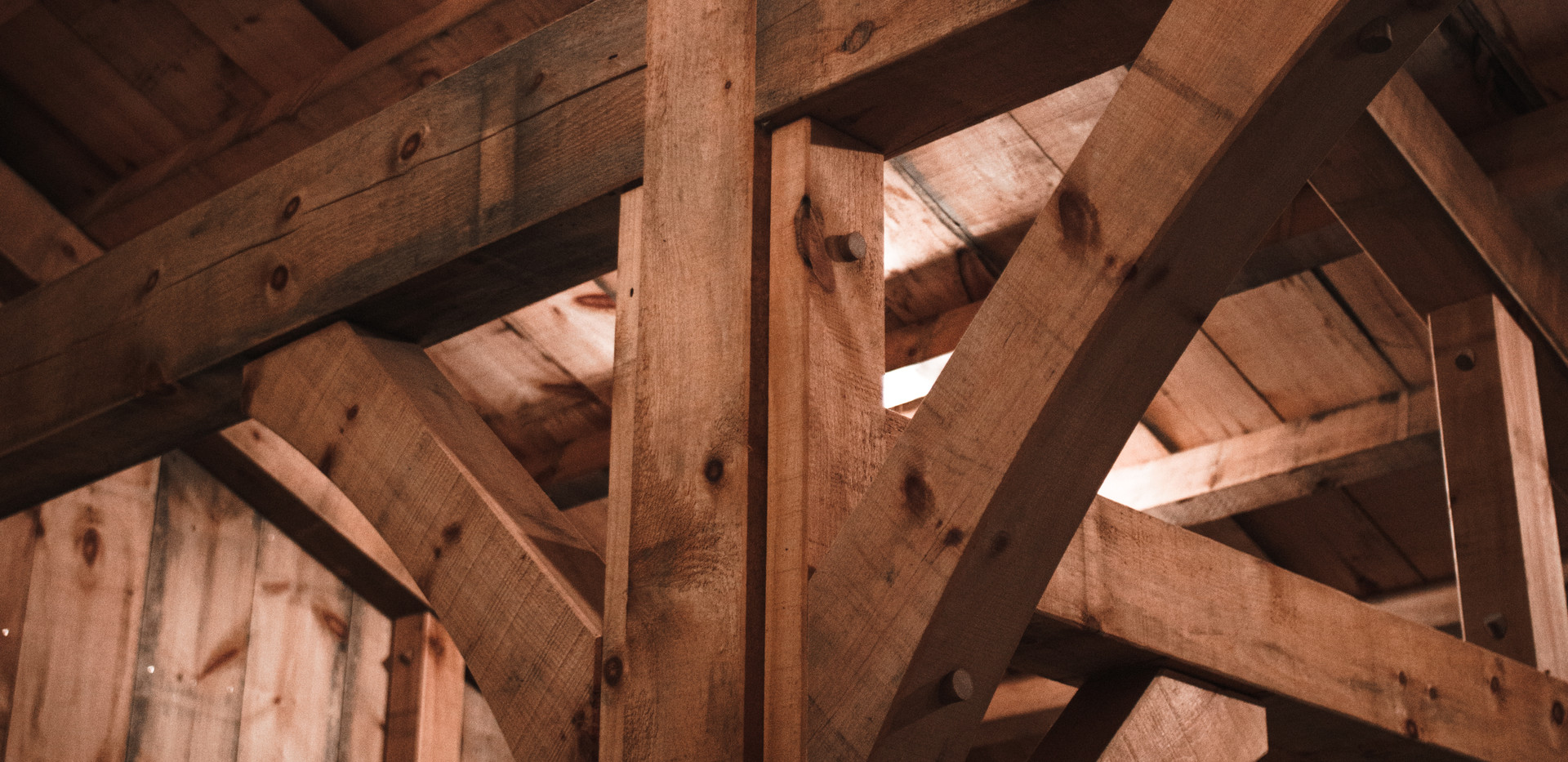 Eastern White Pine Timber Frame Barn