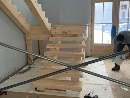 Eastern White Pine - Timber Stairs