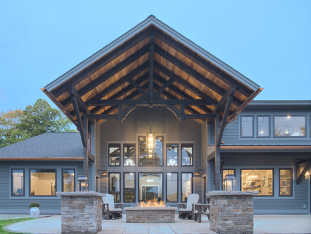 Award Winning Home with Timbers by Grand Traverse Timber Frame