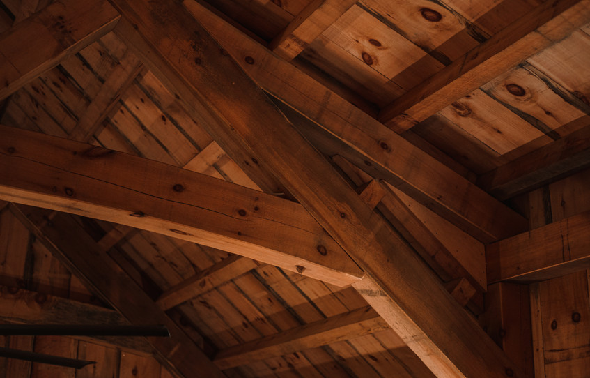 Eastern White Pine Timber Frame Barn