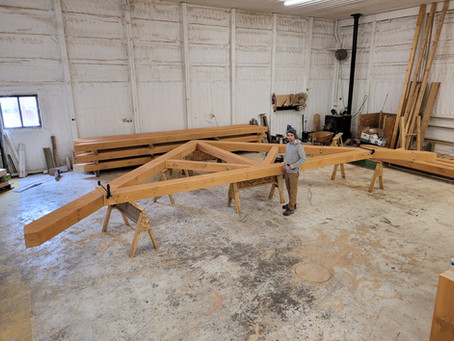 Eastern White Pine - King Post Trusses