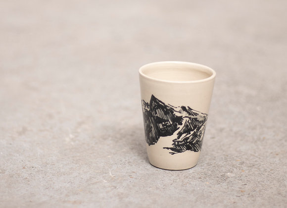 Mountain coffee cup