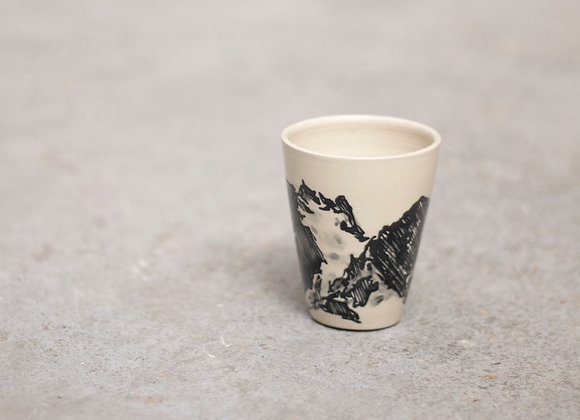 Mountain coffee cup