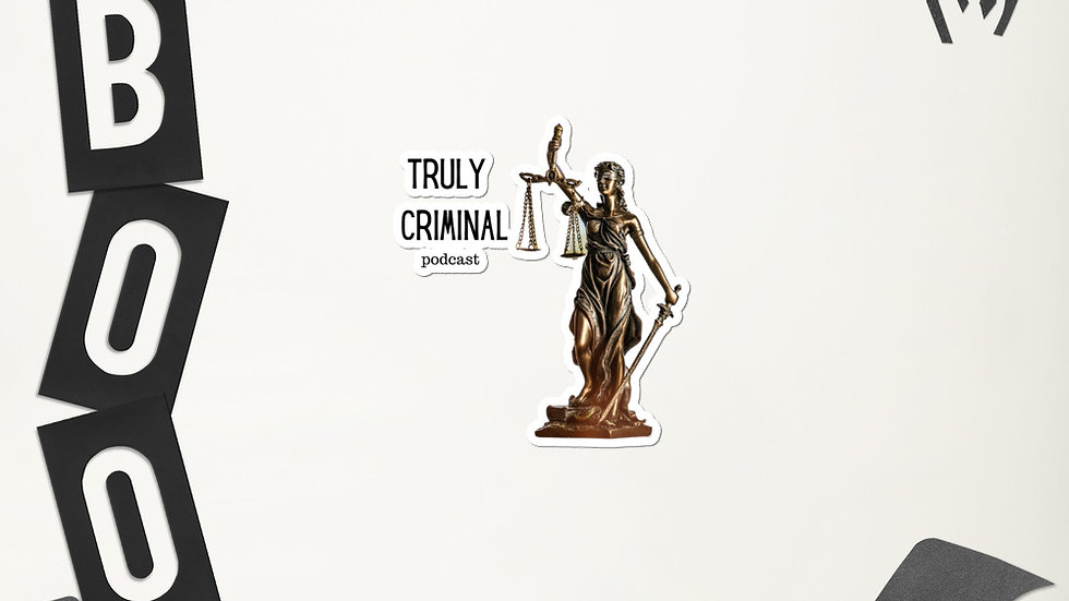 Truly Criminal Logo Bubble-free stickers