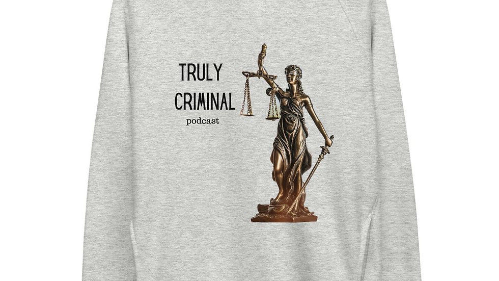 Truly Criminal Logo Eco-Friendly Unisex pullover hoodie