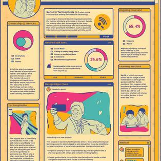 Geriatric Technophobia Infographic