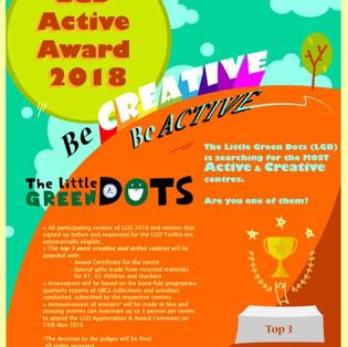 LGD Active Award 2018 Poster Design for GreenSproutz SG