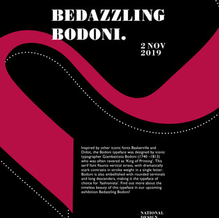 Bedazzling Bodoni Exhibition Poster