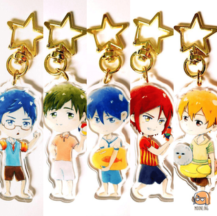 Free! Watercolour Keychains