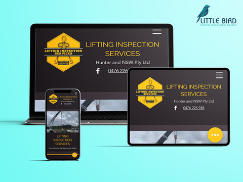 Lifting Inspection Services website
