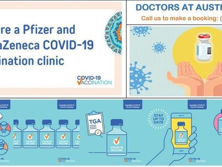 Covid- 19 Vaccination Clinics – Pfizer & AstraZeneca