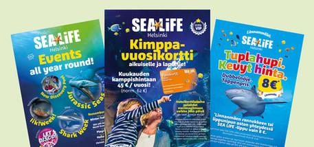 SeaLife Helsinki - Julisteet