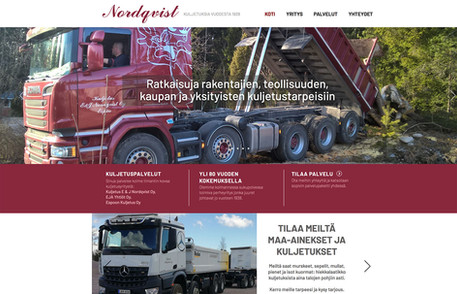 Nordqvist Yhtiöt -  Web-sivuston uudistus