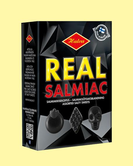 Halva - Real Salmiac pakkausdesign