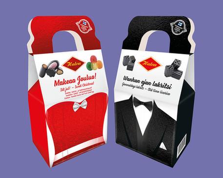 Halva - Joululahjapakkauksien design