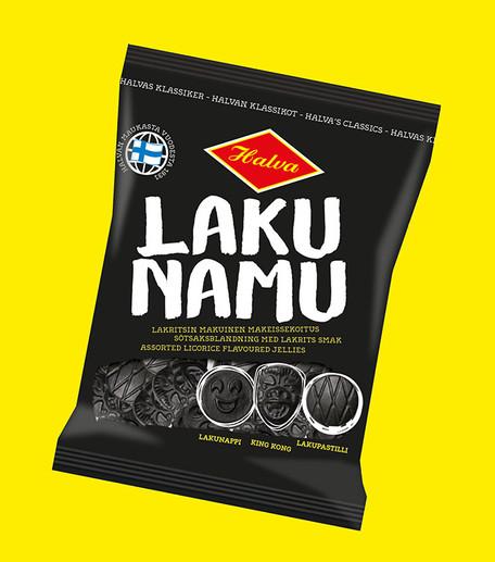 Halva - Lakun Namu Pakkausdesign