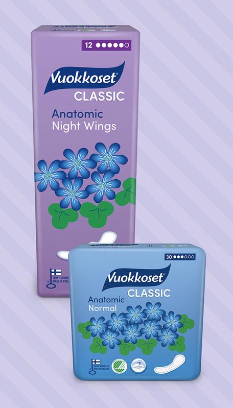 Vuokkoset - Classic tuotesarjan pakkausdesignin päivitys