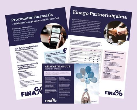 Finago - Esitteet