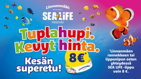 SeaLife Helsinki ja Linnanmäki - Yhteistarjouskampanja