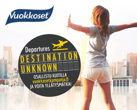 Vuokkoset - Destination Unknown -kampanjan ilme