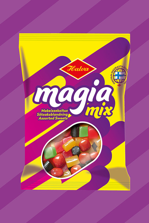 Halva - Magia Mix pakkaudesign